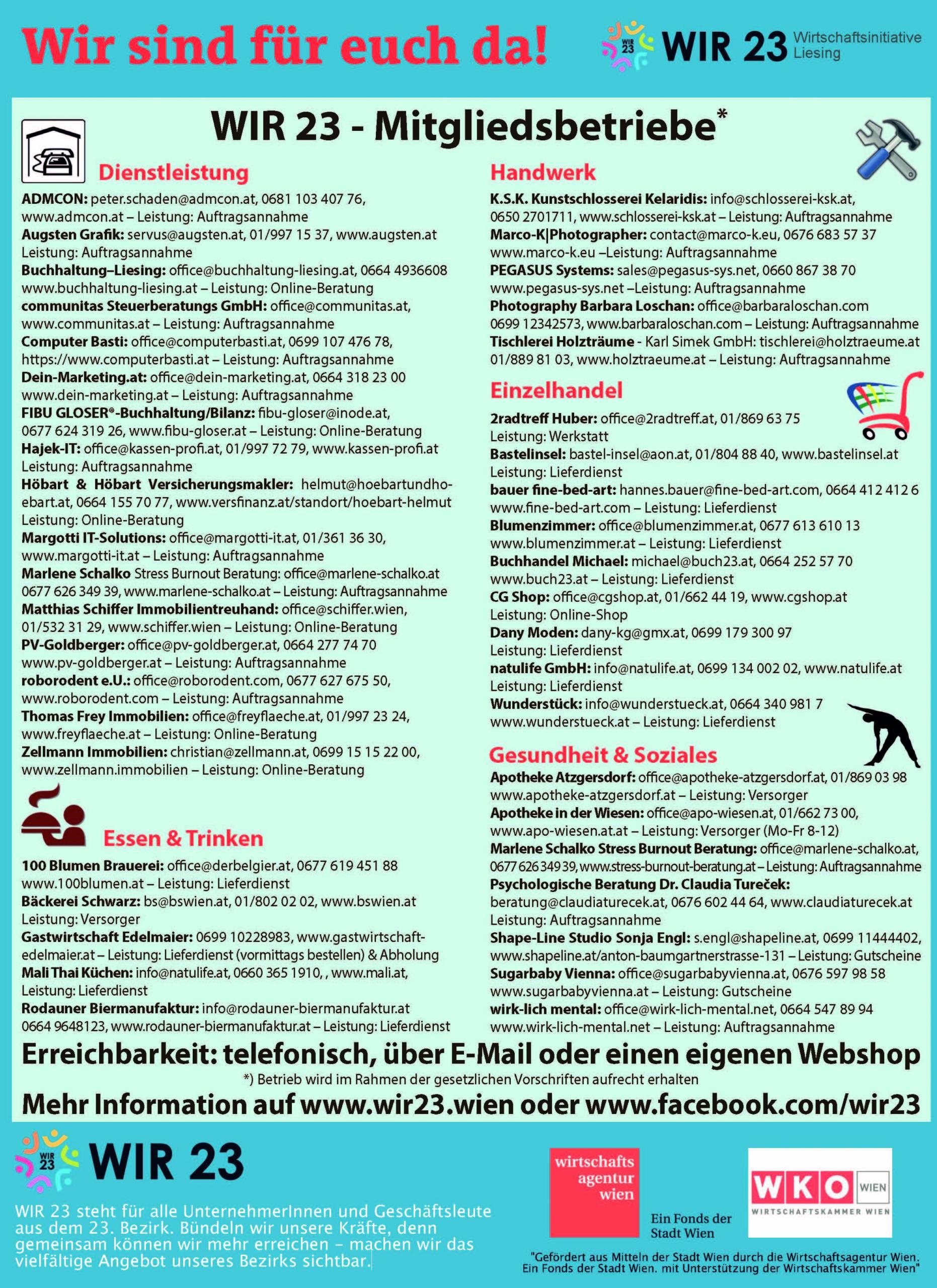 WIR23 Liste